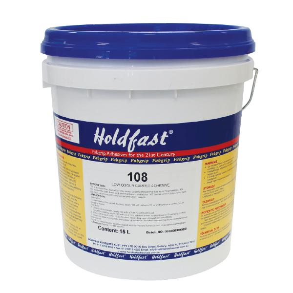 Holdfast 108 Solvent Free Carpet Adhesive 15ltr Drum