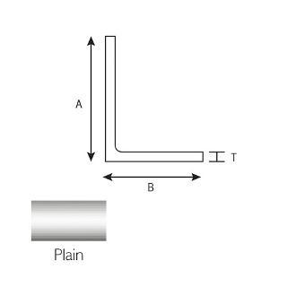 Aluminium Angle 50mm X 25mm X 3mm X 3.25mtr