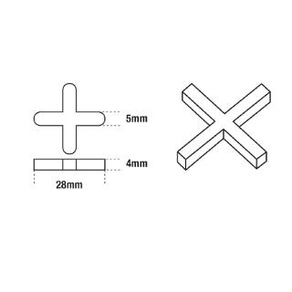 DTA Cross Tile Spacers 5mm