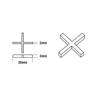 DTA Cross Tile Spacers 2mm