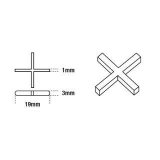 DTA Cross Tile Spacers 1mm