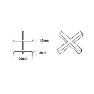 DTA Cross Tile Spacers 1.5mm