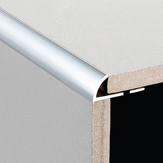DTA Aluminium Round Edge Trim Bright Silver 3 mtr Lengths