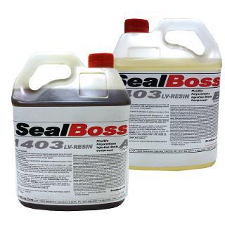 SealBoss  1403 LV Flexible Polyurethane Injection Resin Part A & B 8ltr ltr