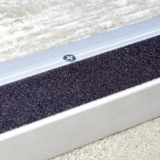 DTA Commercial Aluminium Stair Tread Matt Silver 68mm X 3mtr