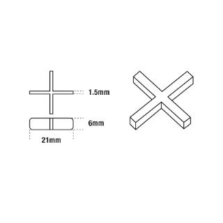 DTA Deep Cross Tile Spacers 1.5mm